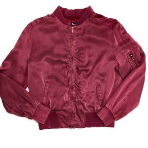 {Mercer & Madison} 100% Silk Bombers Jacket